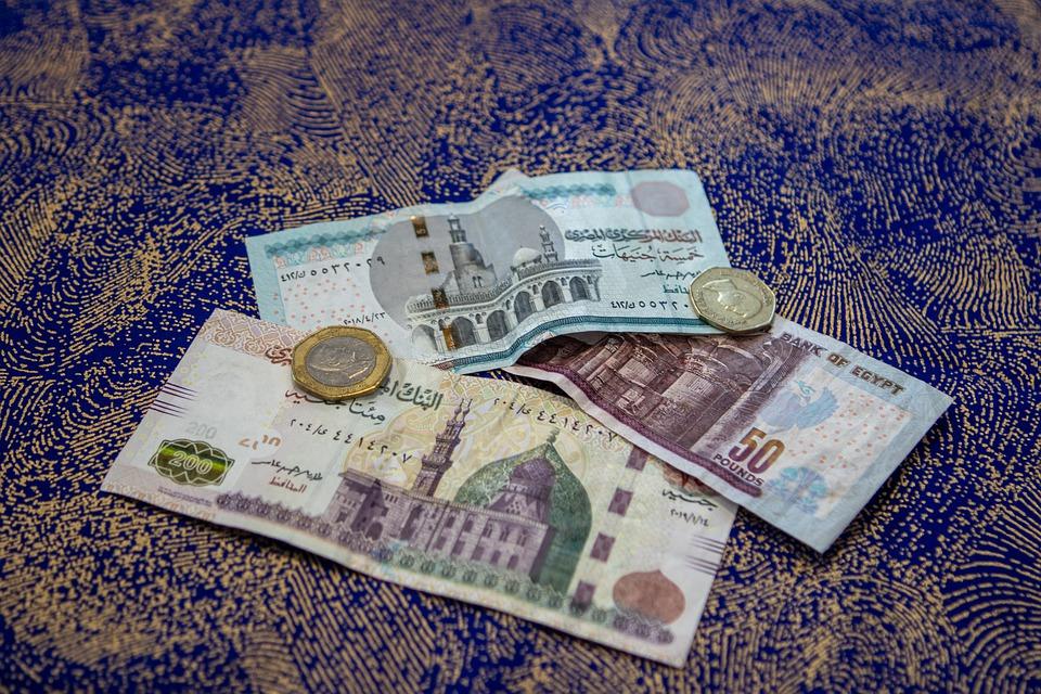 egyptské peníze